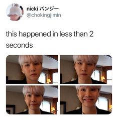 I ALREADY SCREENSHOTTED IT BECAUSE I KNEW IT WOULD TURN INTO A MEME  he really did make all those faces in under 2 seconds