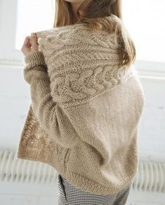 Easy Knitting, Loom Knitting, Knitting Stitches, Crochet Cardigan, Knit Or Crochet, Knit Vest Pattern, Knitting Patterns, Knitwear, Cool Outfits