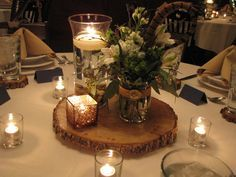 Rehearsal dinner decorations -  wood and birch