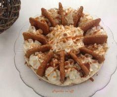 Cheesecake chocolat blanc, spéculoos et caramel au beurre salé
