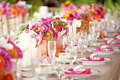 Resultado de imagen para decoracion de bodas fucsia