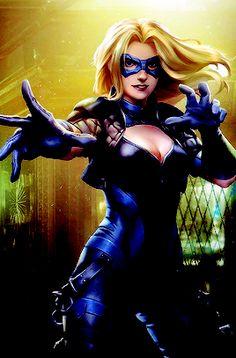 """Black Canary in Injustice Mobile - Artwork by Atomhawk Design "" Arrow Black Canary, White Canary, Comic Book Girl, Comic Books Art, Superhero Suits, Female Superhero, Dinah Laurel Lance, Black Spiderman, Lance Black"