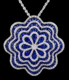 SALAVETTI Diamond Sapphire Necklace