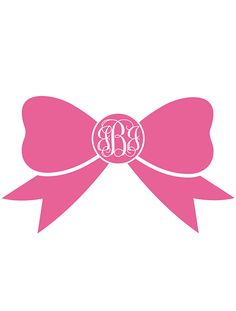 free printable bow monogram.