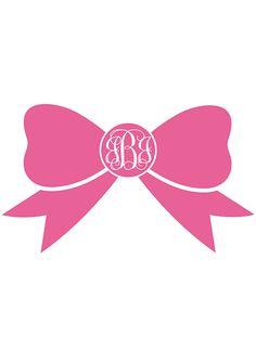 free printable bow monogram.