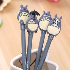 1pcs Novelty Cute My Neighbor Totoro Gel Ink Pen Signature Pen Escolar School Office Supply Promotional Gift