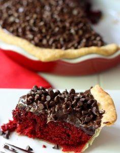 Red Velvet Fudge Pie