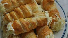 Sajtos roló, a klasszikus sós süti Hungarian Recipes, Sausage, Dairy, Sweets, Bread, Cheese, Snacks, Retro, Childhood Memories