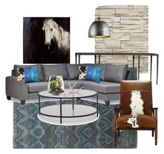 """New living room"" by dlsilva on Polyvore featuring interior, interiors, interior design, home, home decor, interior decorating, York Wallcoverings, Surya, Pillow Decor and Mitchell Gold + Bob Williams"