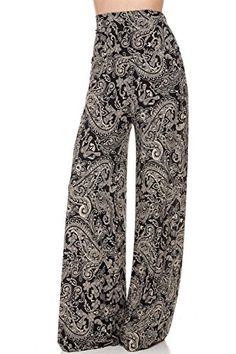 0a88728e29f 2LUV Plus Women s High Waisted Plus Palazzo Pants Black  amp  Khaki 2XL  (B1098VP)