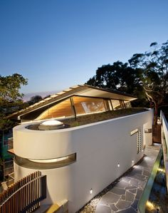 Interesting way to add light to a house and interesting house. Contemporary Exterior by Richard Cole Architecture