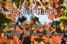 5 Must-Haves For Surviving The Fall & Winter Season