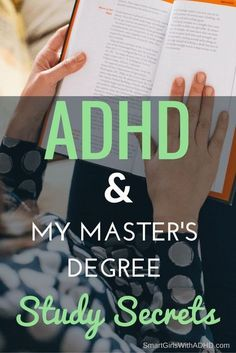Dont have adhd but think thia may be useful! ADHD & My Master's Degree Study Secrets Adhd Help, Adhd Strategies, Study Methods, Adult Adhd, Online College, Education College, Education Degree, Education Requirements, Business Education