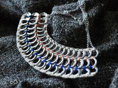 Naszyjnik pastel półokrągły w bÓ biżuteria na DaWanda.com