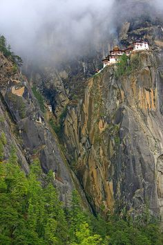Tiger's Nest Monastery, a Mahayana Buddhist sacred site and temple complex first built in 1692 in Taktshang, Bhutan