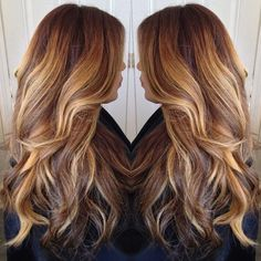 ombre hair brown to blonde medium length - Google Search