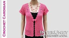 How to crochet lace cardigan jacket. Learn how to design and crochet women's short sleeve sweater with buttons - summer top crochet pattern. Shawl Crochet, Crochet Coat, Crochet Cardigan Pattern, Lace Cardigan, Crochet Blouse, Crochet Clothes, Crochet Lace, Free Crochet, Summer Cardigan