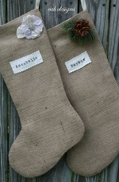 burlap stockings!