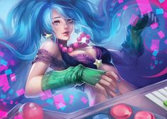 Arcade Sona, Na Young Lee on ArtStation at https://www.artstation.com/artwork/vmoR6