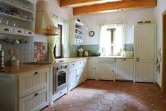 Rustic kitchen, light and airy