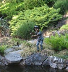 Boy Gone Fishing Bronze Garden Statue 81 High By Rose Of Dania Beach
