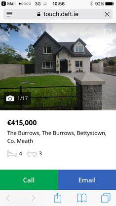 Dormer House, Dormer Bungalow, Modern Bungalow Exterior, Country Home Exteriors, House Designs Ireland, Exterior Homes, Stone Cladding, Cute House, House Renovations