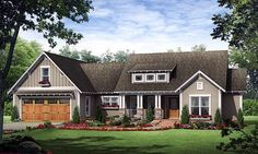 Another great plan for downsizing. 1800 sq ft. Country European French Country Traditional Elevation of Plan 59182