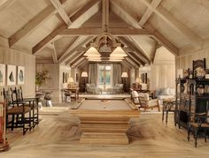 If you've ever had horses, you'll love the design of this barn-house incorporating the stables (the tack room is amazing). The stables/house has been done in such a stylish way that it looks perfec Ranch, Farmhouse Family Rooms, Farmhouse Style, Modern Farmhouse, Barn With Living Quarters, House Seasons, Barn Apartment, Barn Living, Living Room