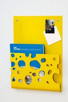 Decorative rack shelf for magazines or books Swiss Cheese laser cut powder coated steel. via Etsy. Garage Furniture, Metal Furniture, Metal Projects, Projects To Try, Steel Image, Rack Shelf, Metal Artwork, Home And Deco, Sheet Metal