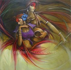 acrylic canvas painting of krishna radha - Google Search