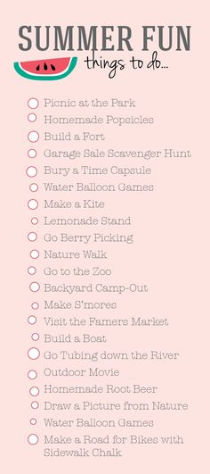 The ultimate summer bucket list! Get on it! - Daily Opulence Team | www.dailyopulence.com