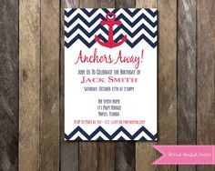Hey, I found this really awesome Etsy listing at https://www.etsy.com/listing/163793583/printable-nautical-birthday-invitation