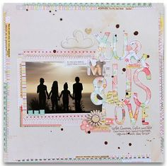 Suzy Plantamura ...American Crafts...hand-cut title from patterned paper ~ so sweet