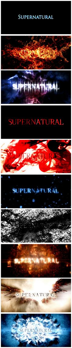 [gifset] Supernatural Title cards through the seasons!BEAUTIFUL!