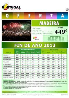 MADEIRA Fin de Año 2013 salida Bilbao vía Lisboa 5d/4n desde 449 € - http://zocotours.com/madeira-fin-de-ano-2013-salida-bilbao-via-lisboa-5d4n-desde-449-e/