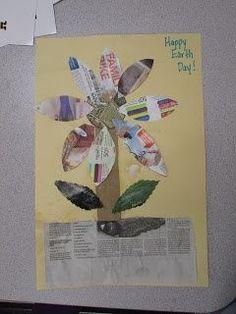 Recycled Flower Craft (from Mrs. Karen's Preschool Ideas)