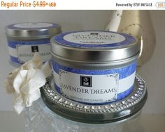 ON SALE Soy Candle Lavender Dreams No. 75 Natural