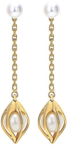 Mellerio 'Bourgeons de Lys' Akoya pearl 18k yellow gold earrings. Pearl Jewelry. I'm an affiliate marketer. When you click on a link or buy from the retailer, I earn a commission.
