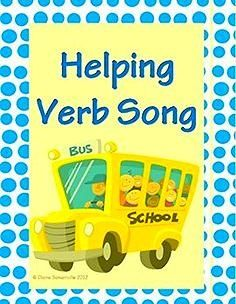 Helping Verbs: Quick Mastery~ Students learn the complete list of helping verbs by singing new words to a familiar tune. Fun, easy, and ready-to-use! Includes handouts, lyrics, and easy-to-use assessment tools. #verb #song #helping #handouts #helpingverb