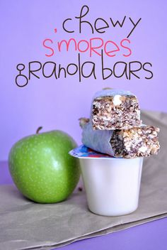 Something Swanky: desserts and designs.: Chewy S'mores Granola Bars (no bake)
