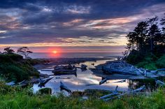 Kalaloch beach, Pacific Ocean, Washington State by NW Vagabond, via Flickr
