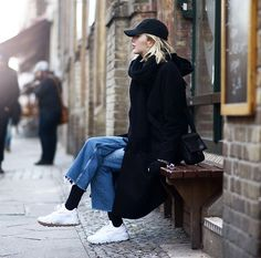 Get this look: http://lb.nu/look/8605363  More looks by Ebba Zingmark: http://lb.nu/ebbaz  Items in this look:  Ebba Zingmark Blog, Nike Sneakers, &Other Stories Jeans, That Boii Cap, Brixtol Coat   #casual #sporty #street