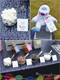 Bumble Winter Bash: A Yeti Inspired Playdate ! Snowman Birthday Parties, 2nd Birthday Party For Boys, Snowman Party, Birthday Party Themes, 8th Birthday, Birthday Ideas, Winter Treats, Winter Desserts, Christmas Entertaining