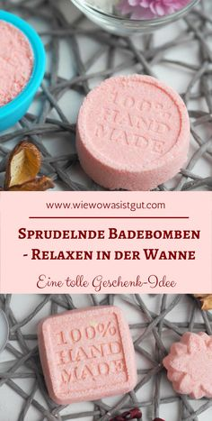 Sprudelnde Badebomben [Werbung] Make bath bombs yourself in 2 minutes and are a fantastic gift idea. Slime, Diys, Diy Hair Mask, Homemade Soap Recipes, Bath And Bodyworks, Vegan Lifestyle, Homeopathy, Bath Bombs, Diy Beauty