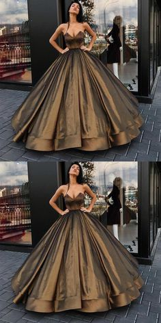 Charming Ball Gown Sweetheart Long Prom/Evening Dress With Beading+#promdresses #longpromdresses #2018promdresses #charmingpromdresses
