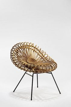 Rattan Corolle Chair by Janine Abraham & Dirk Jan Rol
