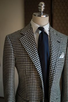 "bntailor:  ""Heavy wool hound tooth sports coat by B&TAILOR  """