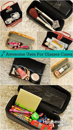 Housewife Eclectic: 7 Awesome Uses For Glasses Cases