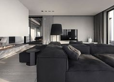 A Single-Family Home Interior in Cool Shades of Gray