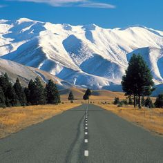 Open road, South Island, New Zealand